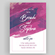 Watercolor Wedding Invitation - GraphicRiver Item for Sale