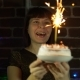Beautiful Woman Celebrating Her Birthday Alone. - VideoHive Item for Sale