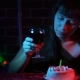 Sad, Young Woman Celebrates the Holiday. - VideoHive Item for Sale