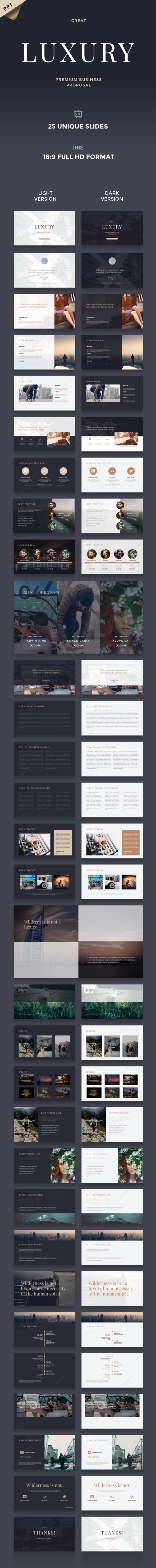 Great Luxury Premium Business Proposal - PowerPoint Template - Business PowerPoint Templates