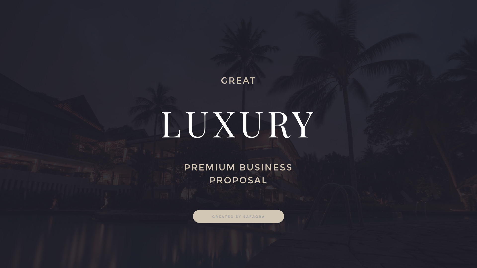 great luxury premium business proposal powerpoint template by safagra. Black Bedroom Furniture Sets. Home Design Ideas