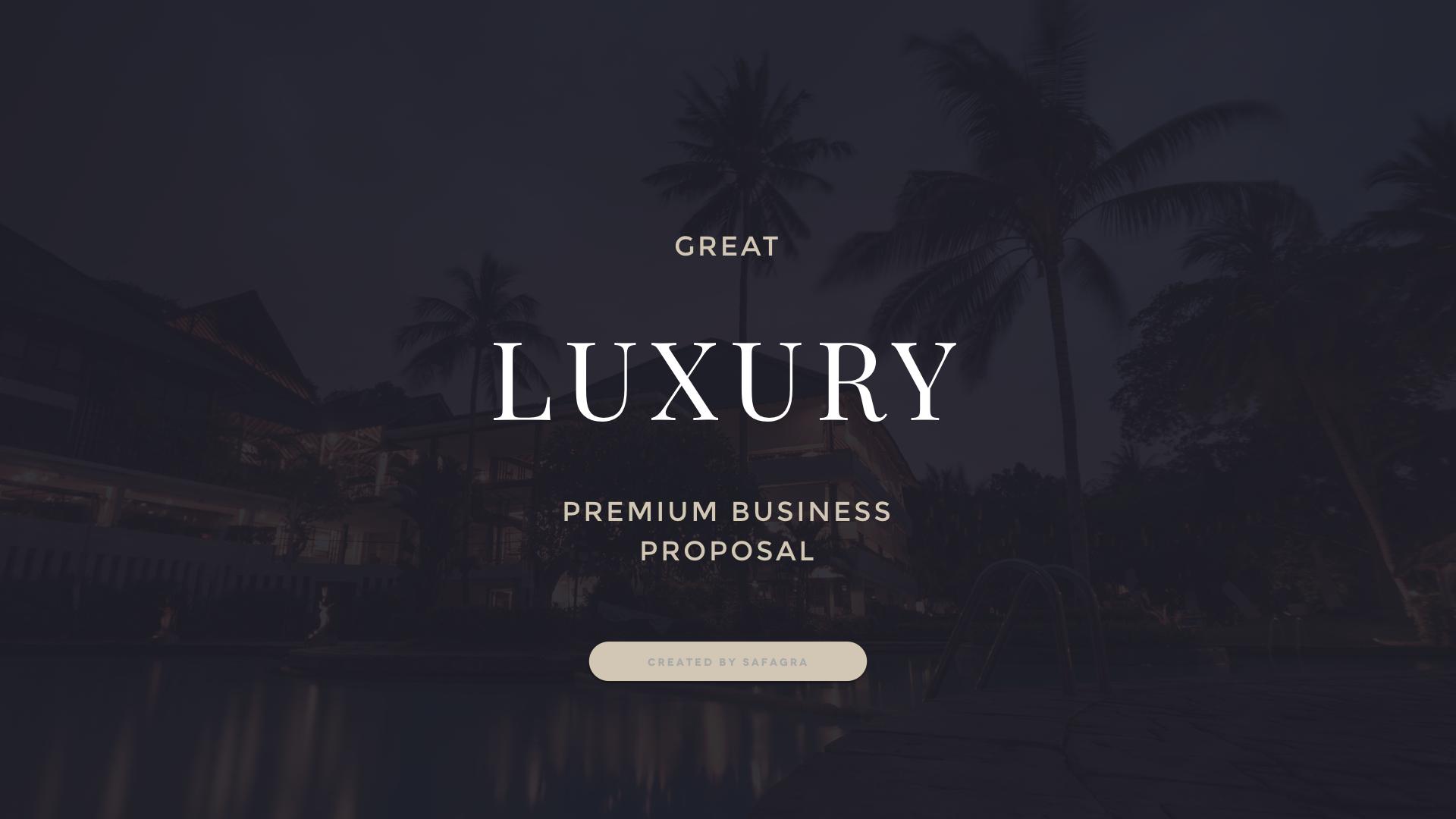 Great luxury premium business proposal powerpoint template by safagra business powerpoint templates luxury001g toneelgroepblik Images