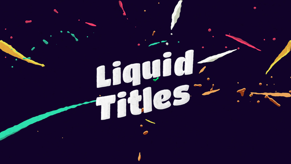 Liquid animation titles by motionvids videohive for After effects lyric video template