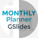 Monthly Planner Google Slides Template - GraphicRiver Item for Sale