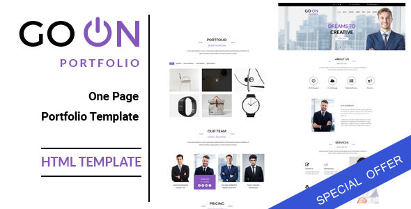 Go On : One Page Portfolio HTML Template - Portfolio Creative