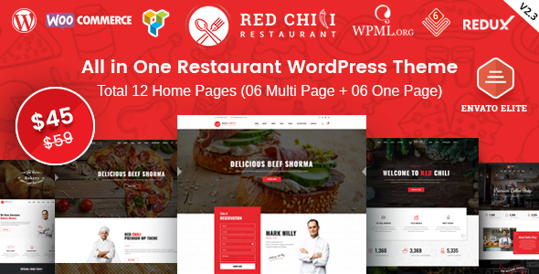 Image of RedChili - Restaurant WordPress Theme for Restaurant, Food & Cafe