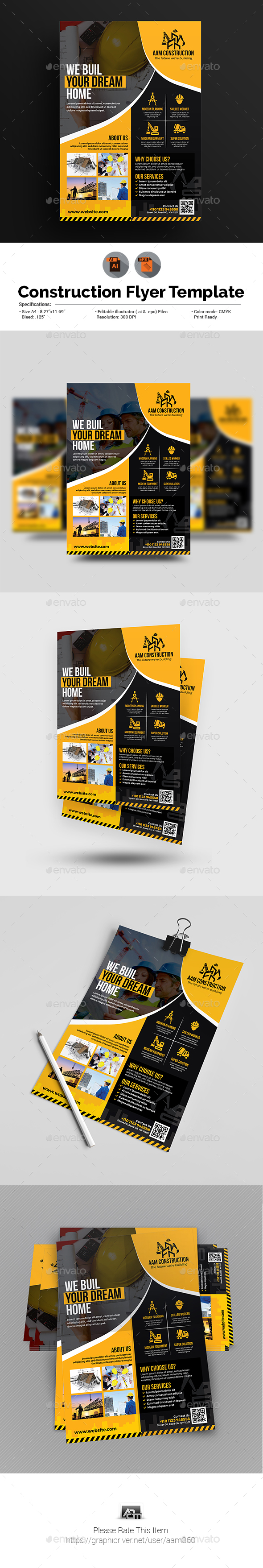 Construction Flyer Template - Corporate Flyers