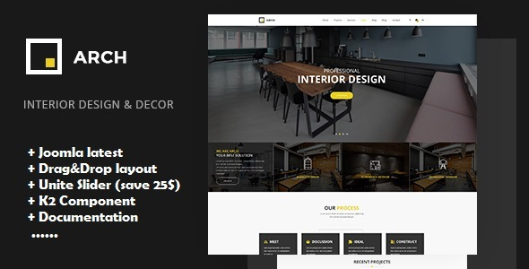 Arch - Interior Design, Architecture and Building Business Joomla Template - Portfolio Creative