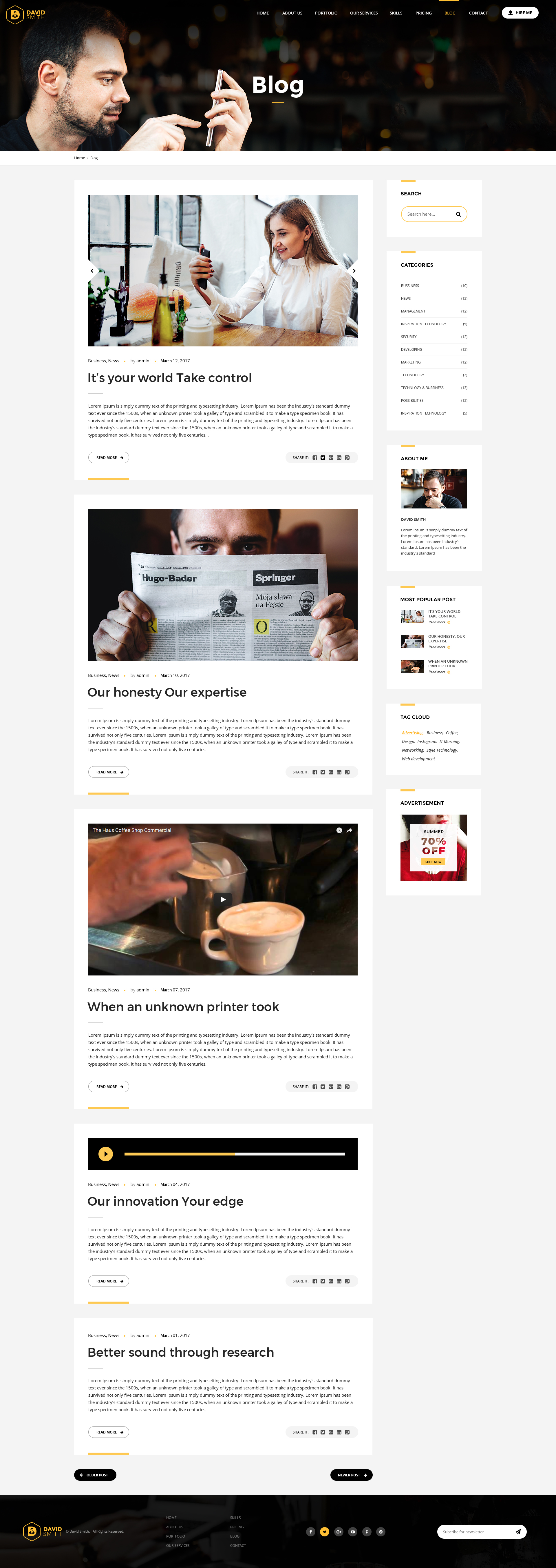 Famous Blog Page Template Elaboration - Professional Resume Examples ...