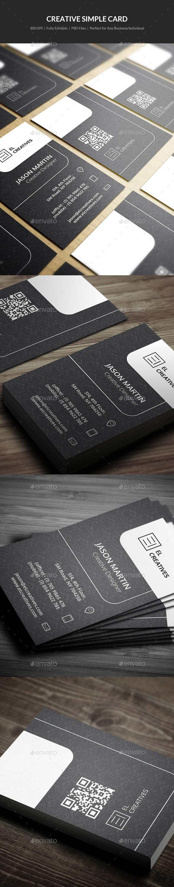 Creative Simple Business Card - 10 - Creative Business Cards