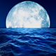 Big Moon Slow Motion Sea - VideoHive Item for Sale