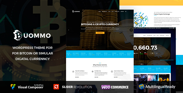 Uommo - Bitcoin & Mining ,  Cryptocurrency News Theme - Business Corporate