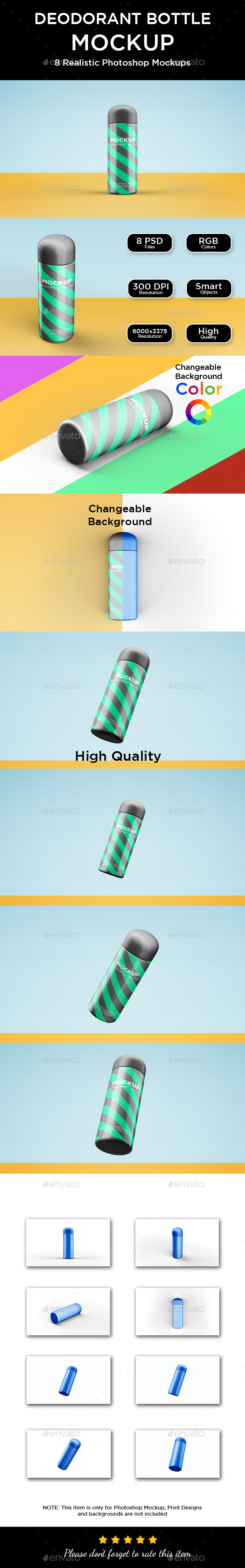 Deodorant Bottle Mockup - Packaging Product Mock-Ups