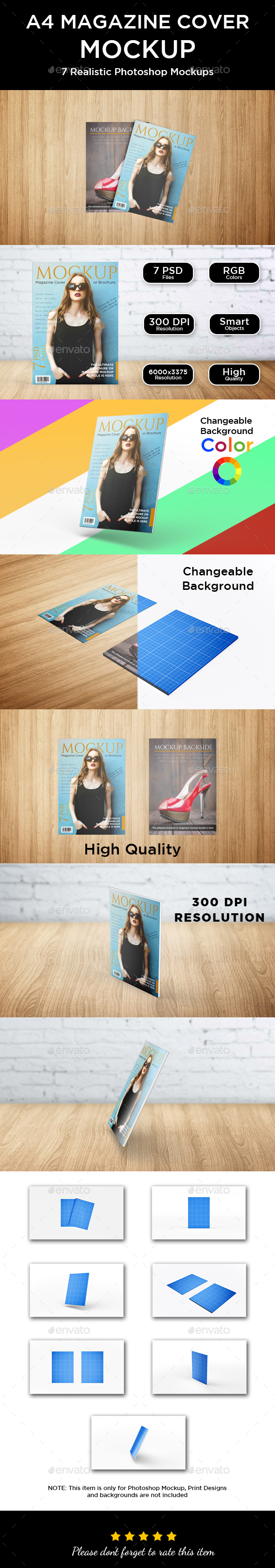 Magazine and Brochure Cover Mockup - Print Product Mock-Ups