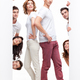 young couple and friends advertising - PhotoDune Item for Sale
