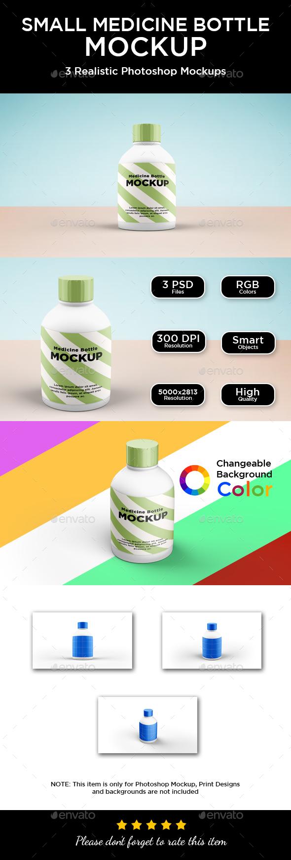 Medicine Bottle Mockup - Big - Packaging Product Mock-Ups