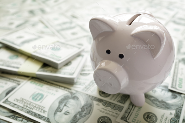 Piggy bank on money concept for business finance, investment and - Stock Photo - Images