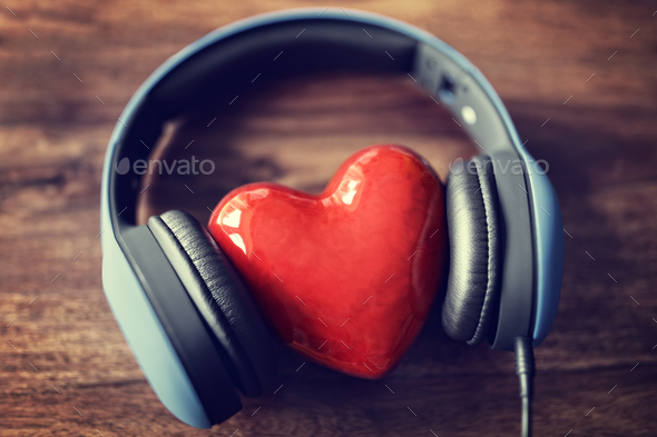 Love listening to music - Stock Photo - Images