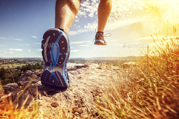 Healthy trail running - Stock Photo - Images