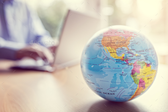 Global business and communications - Stock Photo - Images