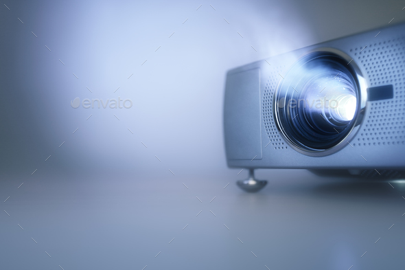 Presentation with lcd video projector - Stock Photo - Images