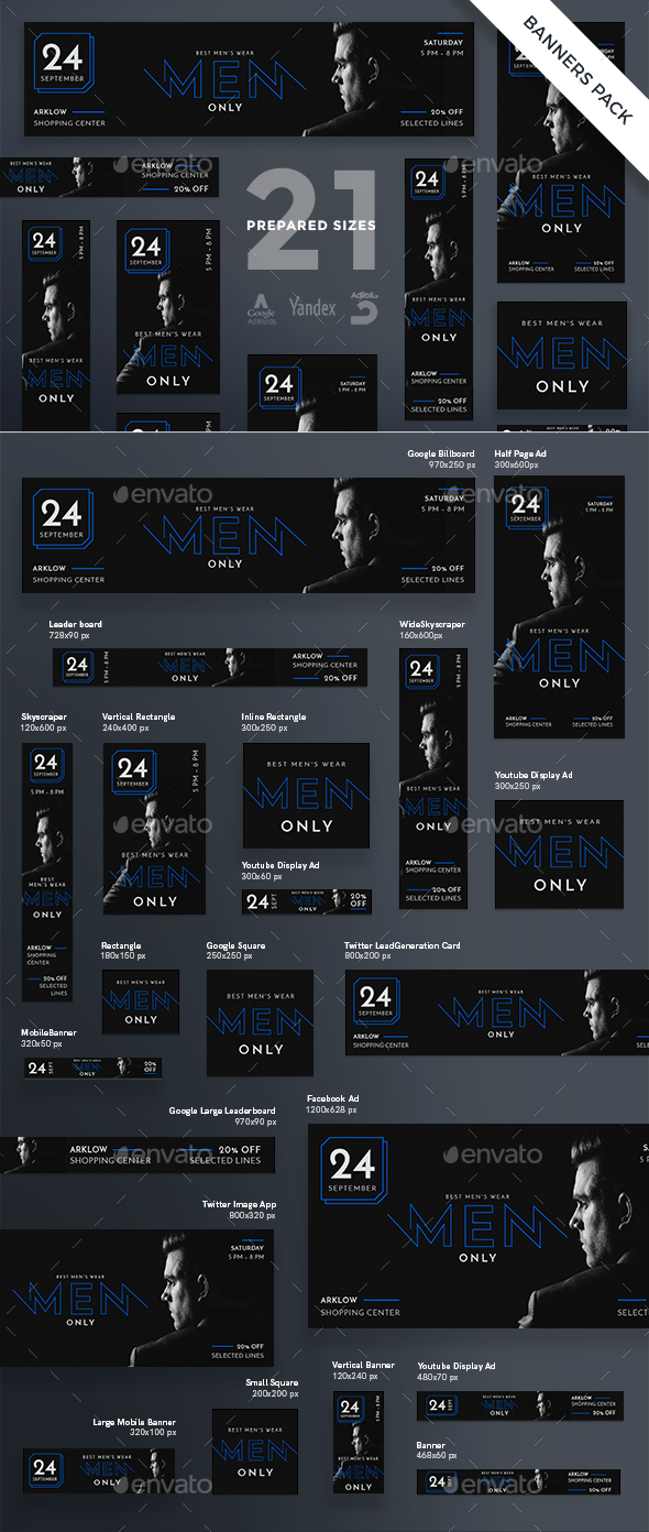Men's Wearhouse Banner Pack - Banners & Ads Web Elements