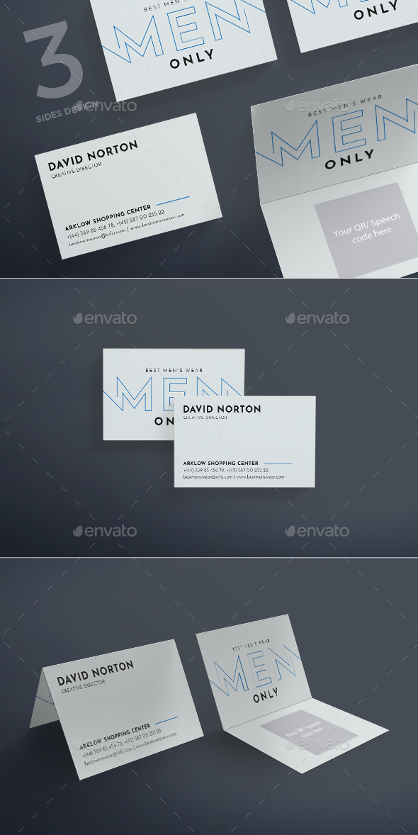 Men's Wearhouse Business Card - Corporate Business Cards