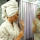 Woman with Bathrobe and Towel on Head Dancing and Singing - VideoHive Item for Sale