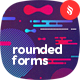 Abstract Rounded Forms Backgrounds - GraphicRiver Item for Sale