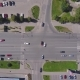 Aerial View of Car Intersection in the City - VideoHive Item for Sale