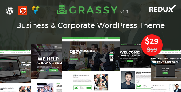 Image of Grassy Business - Business, Corporate and Finance WordPress Theme