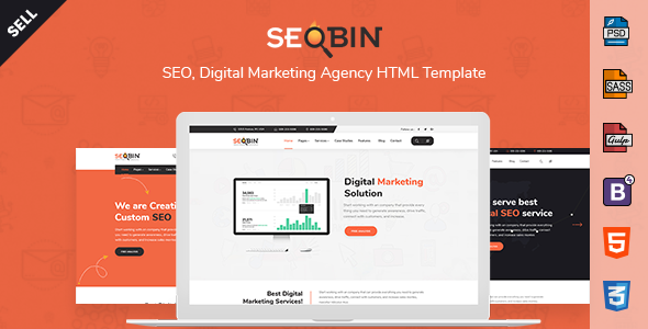 Image of SeoBin | SEO, Social Media and Marketing HTML Template