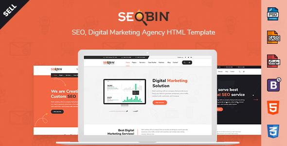 SeoBin | SEO, Social Media and Marketing HTML Template - Business Corporate