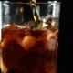 Cola in Transparent Glass on Black Isolated Background - VideoHive Item for Sale