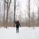 Portrait of Pretty Attractive Girl Winter Fun Walks in the Open Air A Happy Girl Is Walking Along - VideoHive Item for Sale