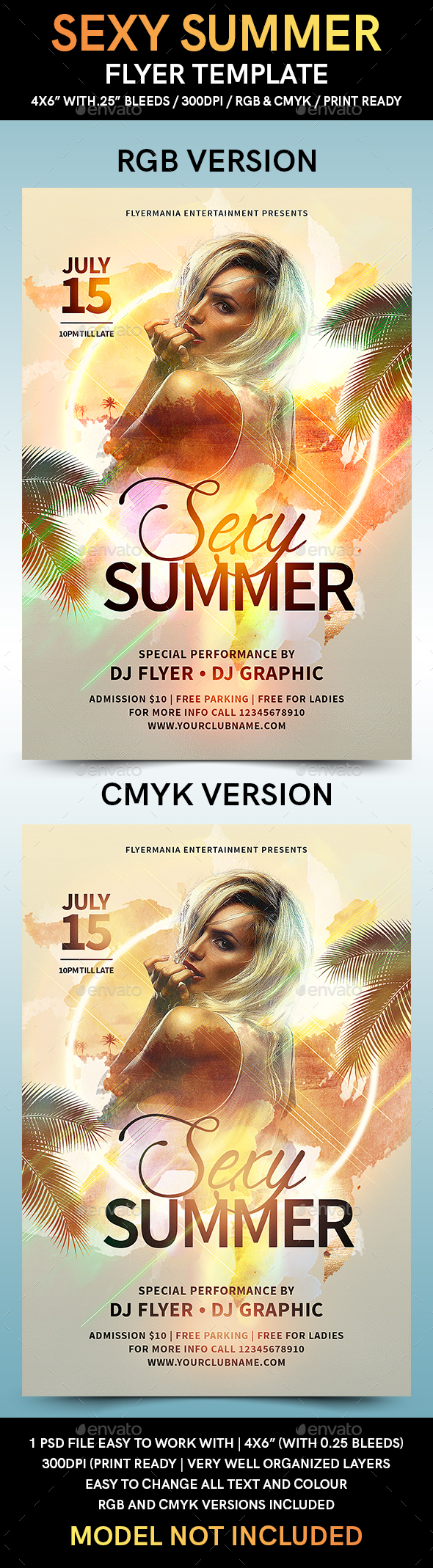 Sexy Summer Flyer Template - Flyers Print Templates