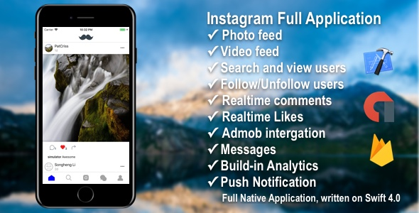 Photo/Video Social Application with Firebase + Admob + PushNotifications + Web - CodeCanyon Item for Sale