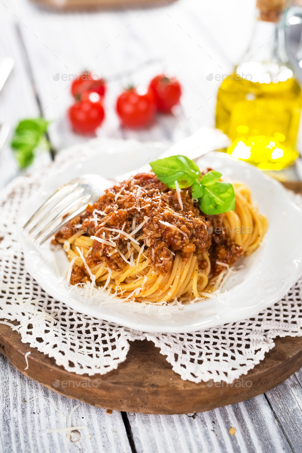 Italian Classic Spaghetti Bolognese - Stock Photo - Images