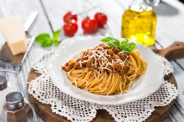 Italian Classic Spaghetti Bolognese - Stock Photo - Images