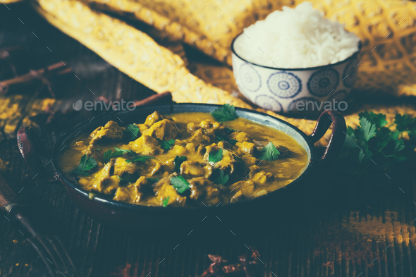 indian curry - Stock Photo - Images