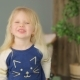 Little Girl Showing Peace and Smiling - VideoHive Item for Sale