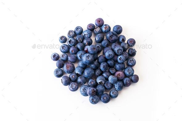 Fresh blueberries isolated on white - Stock Photo - Images