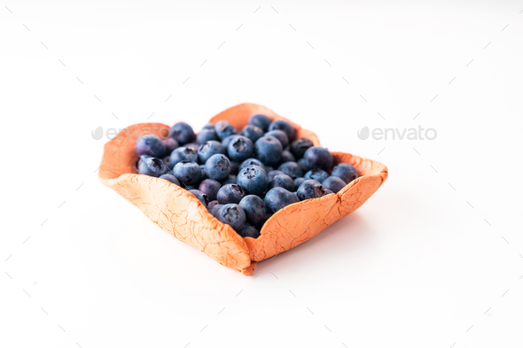 Fresh blueberries isolated on white - Stock Photo - Images