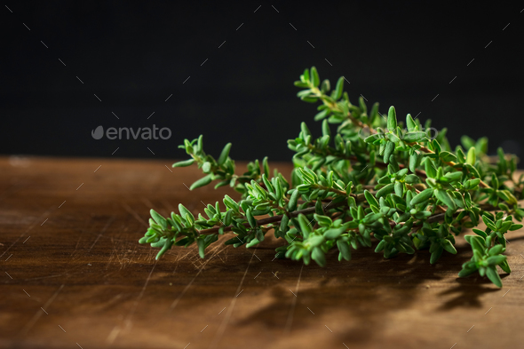 Fresh organic Thyme - Stock Photo - Images