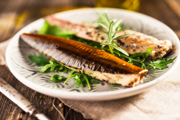 Smoked mackerel - Stock Photo - Images