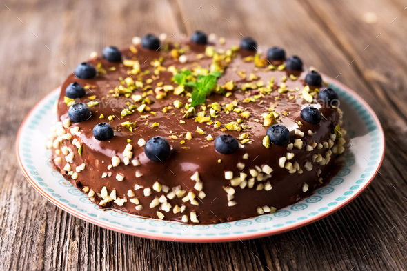 Delicious chocolate cake - Stock Photo - Images