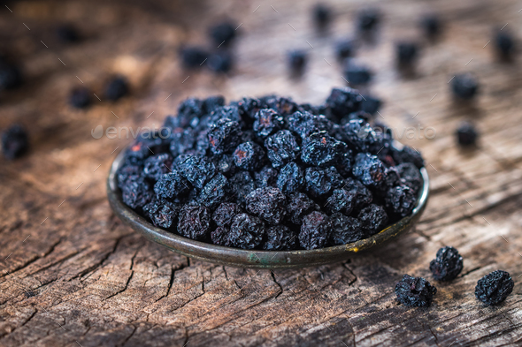 Aronia  dry berries - Stock Photo - Images
