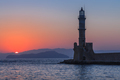 sunset in port of Chania, Crete - PhotoDune Item for Sale