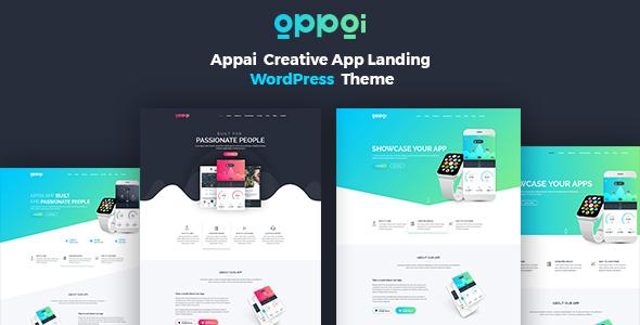 Appai App Landing WordPress Theme - Software Technology