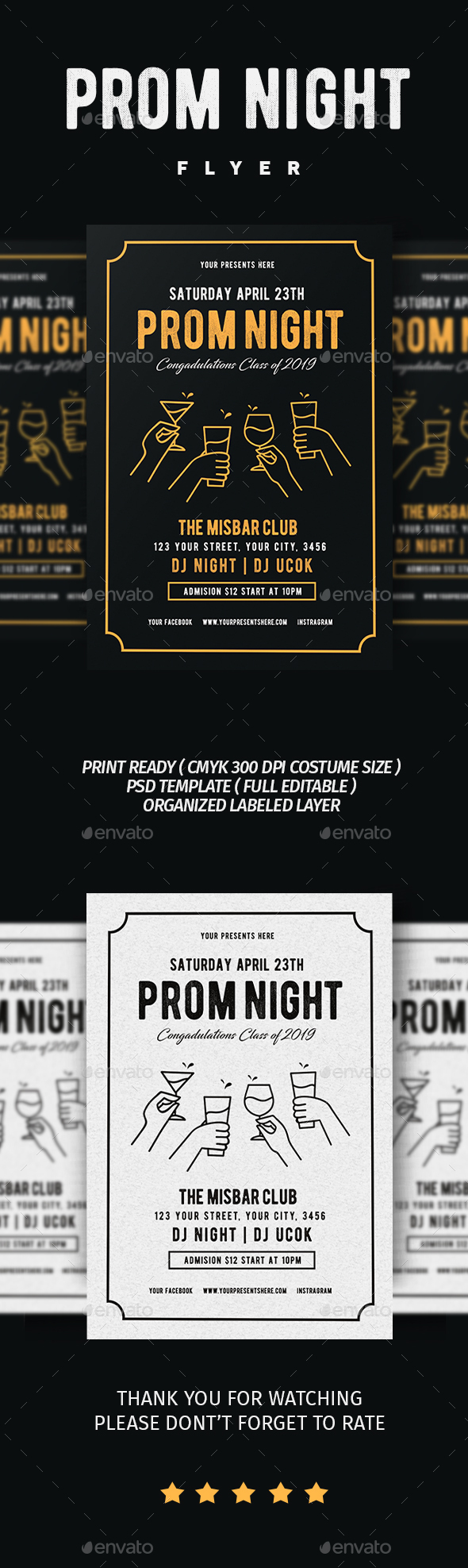 From Night Party Flyer - Flyers Print Templates